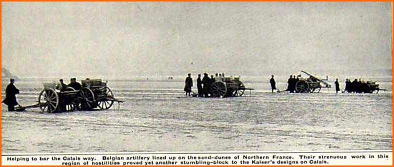 Calais 1915 l armee belge sur les plages de calais encadre 1