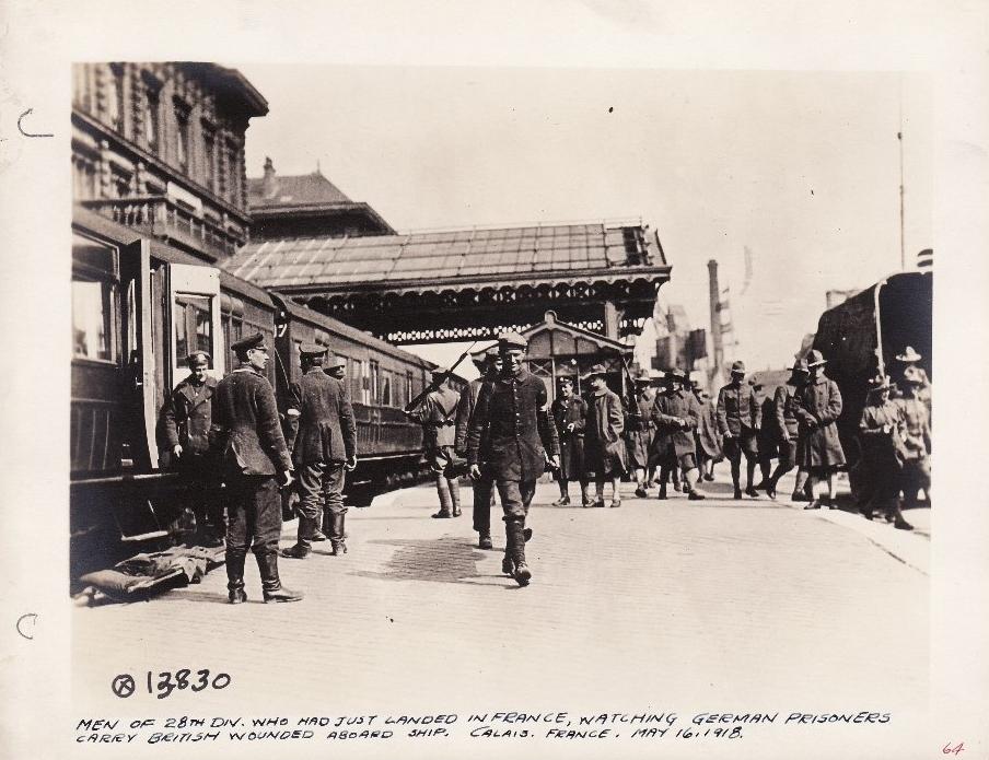 Calais 1918 14 18 soldats americains