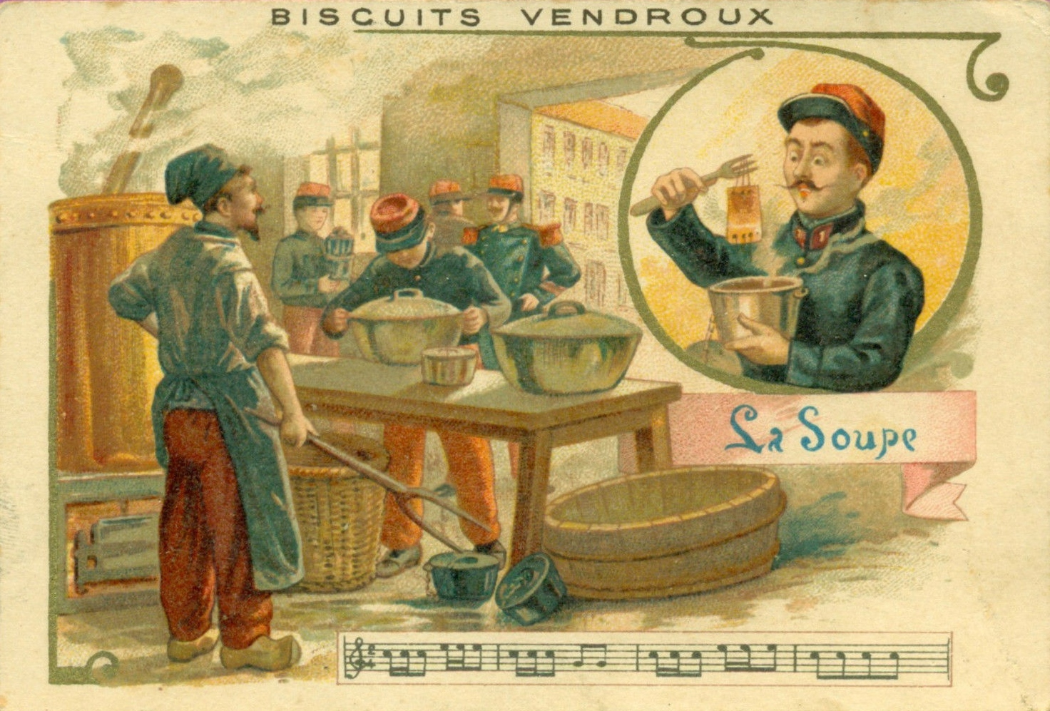 Calais pub vendroux la soupe militaire 14 18