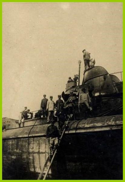Calais sous marin allemand echoue 14 18 photographie encadre