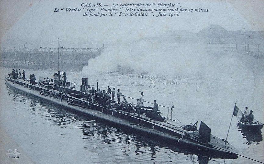 Calais sous marin ventose 14 18