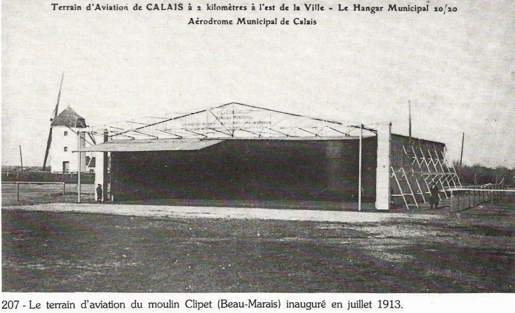 Calais terrain d aviation du moulin clipet au beau marais