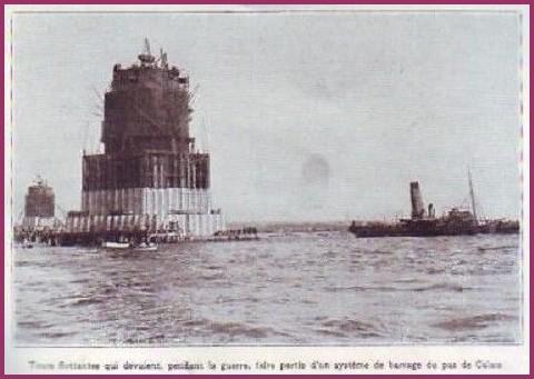Calais tour flottante 1927 protection du pas de calais encadre