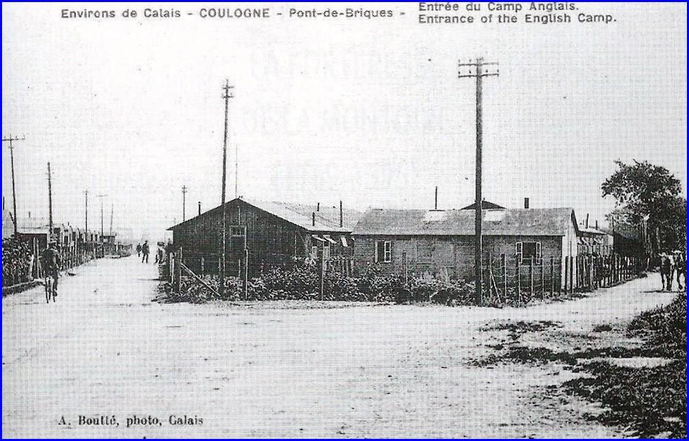 Coulogne pont de briques entree du camp anglais calais 14 18 encadre