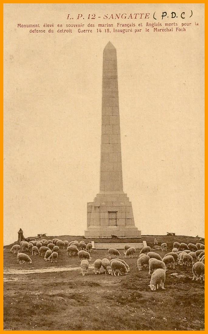 Sangatte dover patrol en memoire des francais et anglais morts pour la defense du detroit guerre 14 18 calais encadre