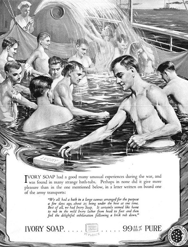 Ww1 14 18 pub americaine pour le savon